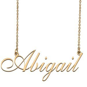 Custom Personalized Abigail Name Necklace